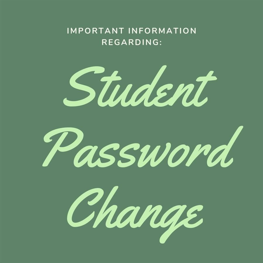 Student Password Change this Weekend