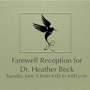 Farewell Reception for Dr. Heather Beck