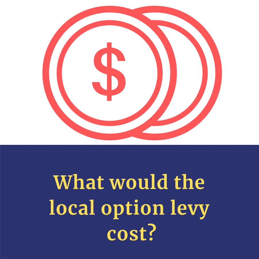 What would the local option levy cost?