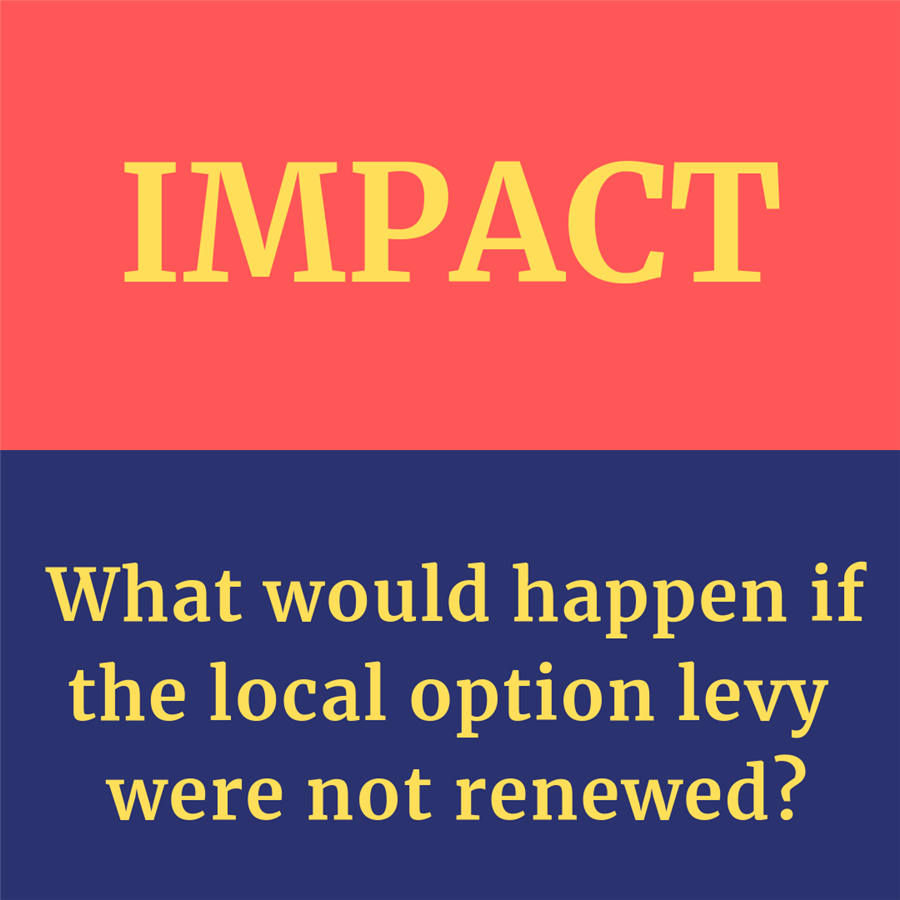 What would happen if the local option levy were not renewed?