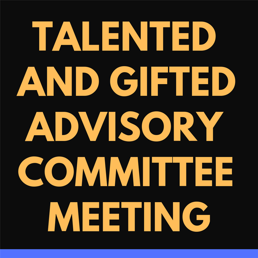 Talented and Gifted Advisory Committee Meeting